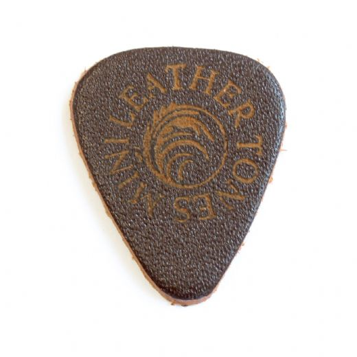 Leather Tones Mini Brown Leather 1 Guitar Pick